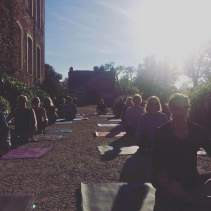 outdoor yoga castle