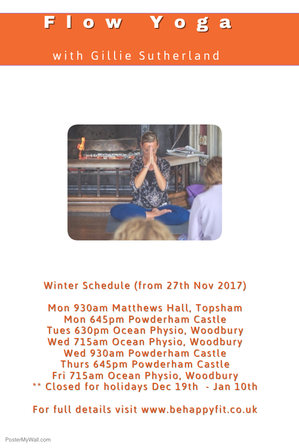 yoga schedule winter 2017