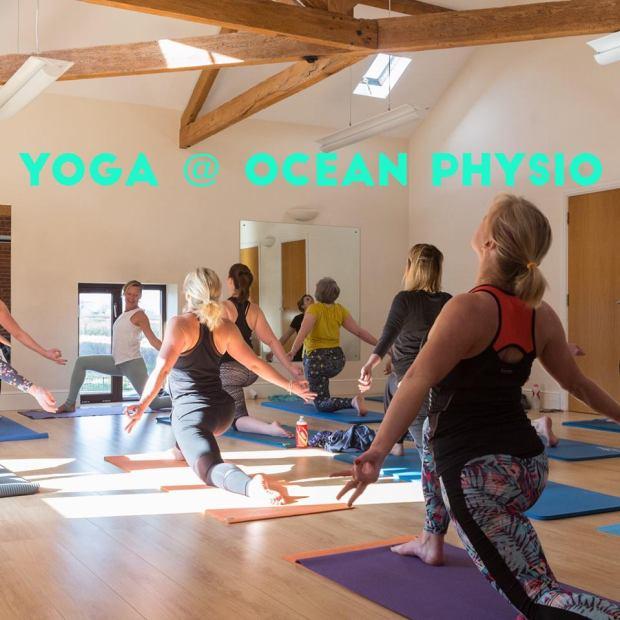yoga at ocean