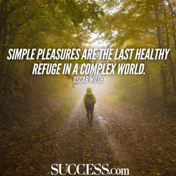 simple pleasures oscar wilde