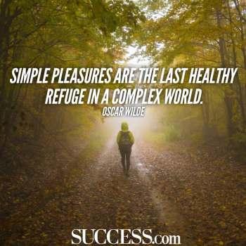 simple pleasures oscar wilde