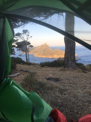 view from tent mallorca